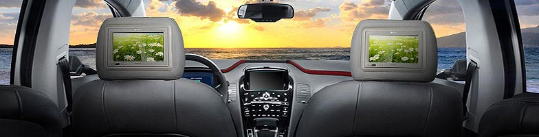 Car Video and Car TV installation Miami Fl. | Roof mounted Car TV DVD & Headrest Monitors